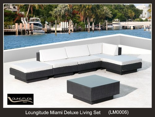 Outdoor Wicker Sofa Sectional Patio Deluxe Living Set Furniture 6 Pieces