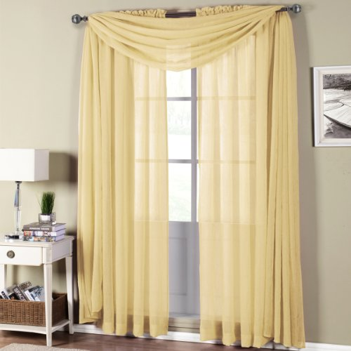 best-buy-abri-rod-pocket-crushed-sheer-curtain-panel-soft-gold-96-inch-long-panel-50x96-each
