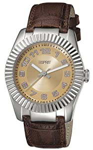 Esprit Damen-Armbanduhr Vestige Brown Analog Quarz Leder ES103582001