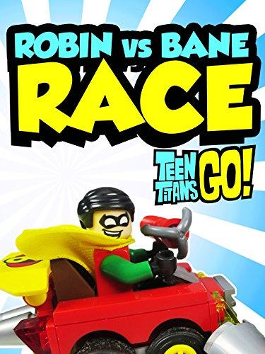 TEEN TITANS GO! Toys -Robin vs Bane Race- Micro Lego Minifigures a Teen Titans Go Toy Parody