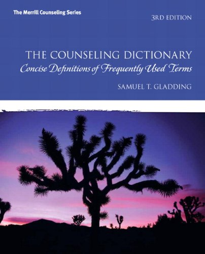 The Counseling Dictionary: Concise Definitions of...