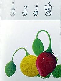 Lemon And Strawberry Green Tea Holder, Tea,Coffee Bag Holder Food Grade Silicon Material Dip Bags Holder