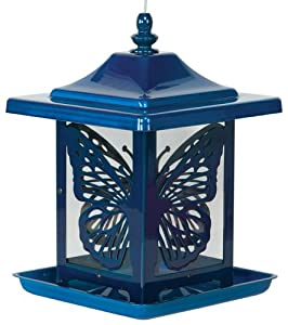 Gardner Homestead Electric Blue Monarch Bird Feeder
