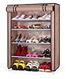Evana Four Layer Cream Shoe Rack/Shoe Shelf/Shoe Cabinet,Easy Installation Stand For Shoes