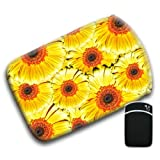 Bright Yellow & Orange Marigold Bunch of Flowers For Amazon Kindle Fire & Kindle 3G Keyboard Soft Protection Neoprene Case Cover Sleeve Bag With Pocket which is Ideal for Headphones, Data Cable etc