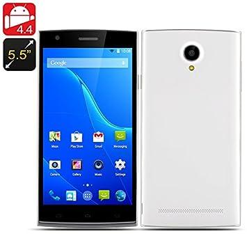 5.5 Inch Octa Core Smartphone - Android 4.4, MTK6592M CPU, 1GB RAM, 16GB Memory, Dual SIM (White)