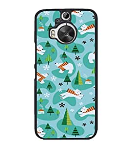 printtech Cool Bear Design Abstract Back Case Cover for HTC One M9+