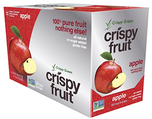 Crispy Green 100% Freeze-dried Apple net weight 4.23 oz, 12 Count