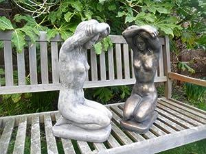 Ornate stone Kneeling Lady ornament figurine