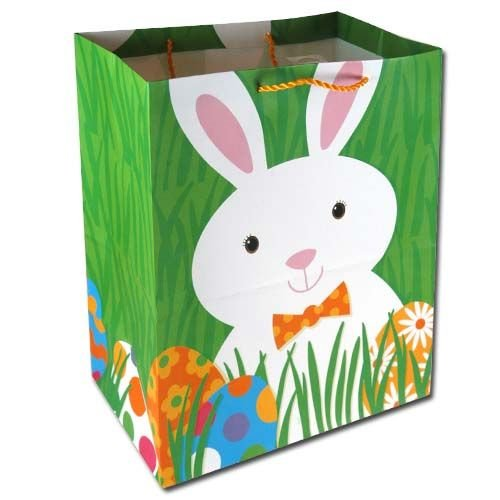 Easter gift bags fancy gift wrap 4pk easter bunny large gift bags negle Images