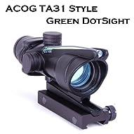 電池不要 集光式 Trijicon ACOG TA31 Style ドットサイト Green  トリジコン