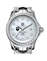 Penn State TAG Heuer Watch - Women's Link Watch with Diamond Bezel
