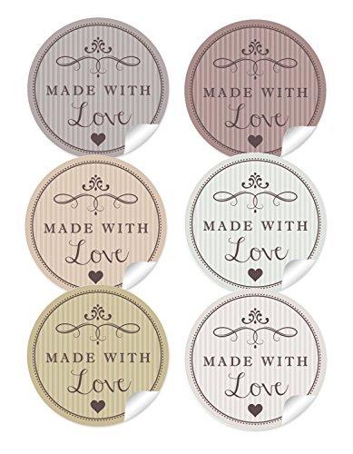24-sticker-gemischt-24-edle-aufkleber-in-6-verschiedene-farben-mit-herz-und-ornamente-made-with-love