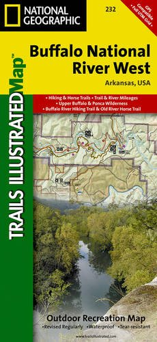 Buffalo National River West (National Geographic Trails Illustrated Map) (Map Central South America compare prices)