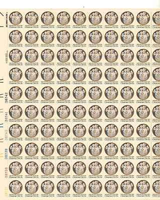 Andrea della Robia Christmas Sheet of 100 x 15 Cent US Postage Stamps Scot 1768