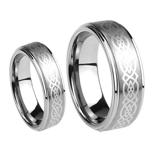 Men Ladies 8mm 6mm Tungsten Carbide Wedding Band Ring