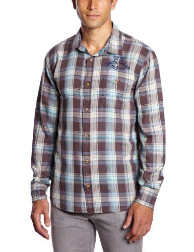Oxbow - Camicia Sondrio a maniche lunghe da uomo, Blu (blu), M