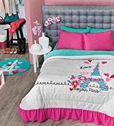 NEW Paris Teens Bedspread Set and Sheet Set (Twin)