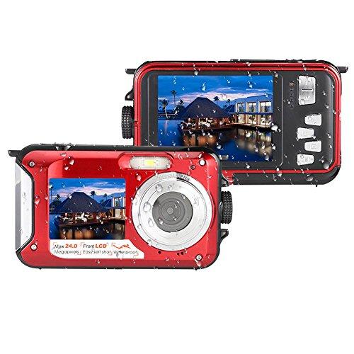 MARVUE 801S Underwater Digital Camera 24MP Waterproof Video Camcorder FULL HD 1080P Self Shot Dual Screen DV Recorder (Best Underwater Digital Camera compare prices)