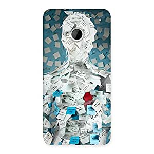 Gorgeous Office Paper Back Case Cover for HTC One M7