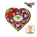 Classic Wrapped Chocolate Box With Birthday Card - Chocholik Luxury Chocolates
