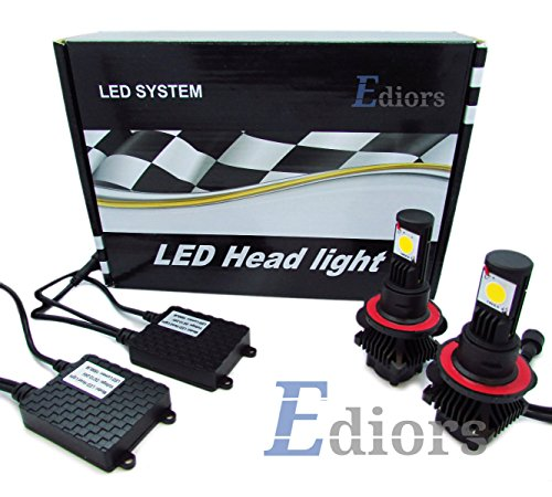 Ediors Ultra Bright Upgraded Led Headlight Conversion Kit - All Bulb Sizes - 50W 3600Lm Cree Led - Replaces Halogen & Hid Bulbs - H8 H11 6000K-6500K White