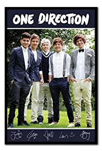 Iposters One Direction Band Portrait Poster Black Framed - 96.5 X 66 Cms (approx 38 X 26 Inches) from iPosters