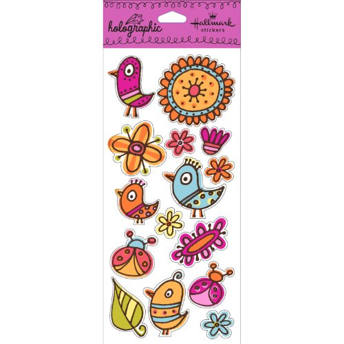 Hallmark Stickers Bird/Flower - 1