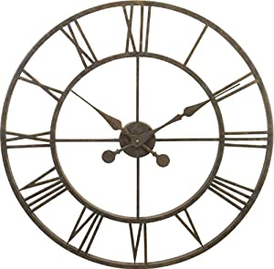 River City Clocks Indoor Metal Skeleton Tower Wall Clock - 30 Inch Diameter - Model # L28-30