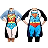 Superman Character Apron Sexy Fashion Apron Funny Joke Gift for Kitchen Cooking (Couple)