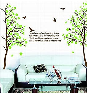 SEGG Two Trees or Combine for 1 Large Tree Birds Quote Wall Sticker Decal for Kids Room Living Room by WallStickersUSA