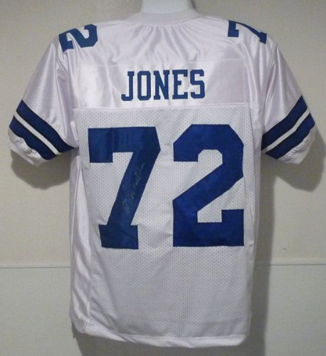 "Ed ""Too Tall"" Jones Autographed Dallas Cowboys White Size XL Jersey at Amazon.com"