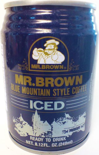Mr. Brown Iced Coffee, Blue Mountain Style, 8.12-Ounce (Pack of 24) (Mr Brown Ice Coffee compare prices)