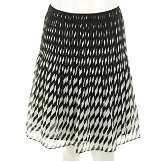 Alfani Elastic Waist Skirt Black/White Rain XL