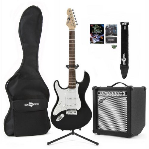 Electric-ST Guitar Left Hand + 35W COMPLETE PACK