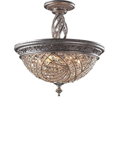 Artistic Lighting Renaissance 6-Light Semi Flush-Mount Ceiling Fixture, Sunset Silver