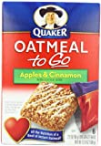Quaker Oatmeal To Go Apples & Cinnamon Squares, 6-Count Boxes (Pack of 6) 12.6oz