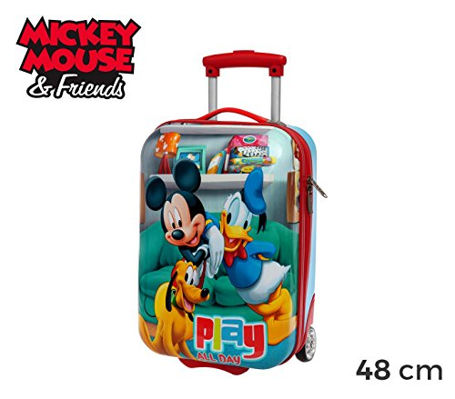 4521151 Trolley bagaglio a mano rigido ABS Mickey Mouse & Friend 48 x 30 x 18 cm. MEDIA WAVE store