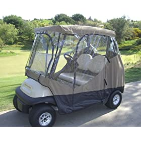 Golf Cart Driving Enclosure 2 Seater Heavy duty, fits E Z GO, Club Car and Yamaha G model - All Weather