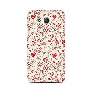 Mobicture Love, Kiss and Gifts Printed Phone Case for Samsung Galaxy J1 Ace