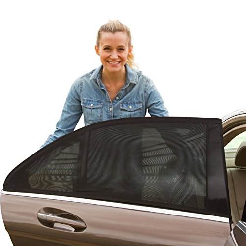Shade Sox Universal Fit Baby Car Side Window Sun Shade with Travel E-Book (Pack of 2) (Side Mirror Tint compare prices)