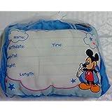 Disney's Mickey Mouse Birth Announcement Door Pillow w/ Pen, Blue