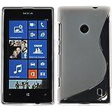 Custodia in Silicone per Nokia Lumia 520 - S-Style trasparente - Cover PhoneNatic + pellicola protettiva