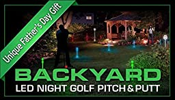 Night Sports USA Backyard LED Night Golf Pitch and Putt Set