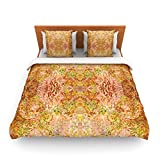 "Kess InHouse Nikposium ""Goldenrod II"" Yellow Gold King Fleece Duvet Cover, 104 by 88-Inch"