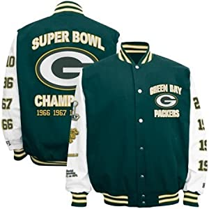 Green Bay Packers NFL Mens Super Bowl Champions Jacket by G-III Sports