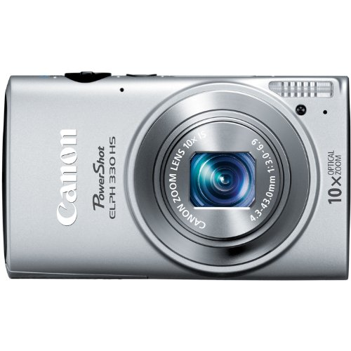Canon PowerShot ELPH 330 12MP Digital Camera with 10x Optical Image Stabilized Zoom with 3-Inch LCD (Silver)