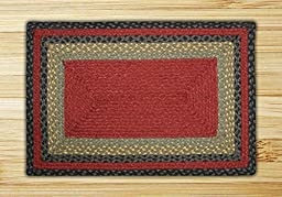 Rectangle Olive Braided Rug (3\'x5\')
