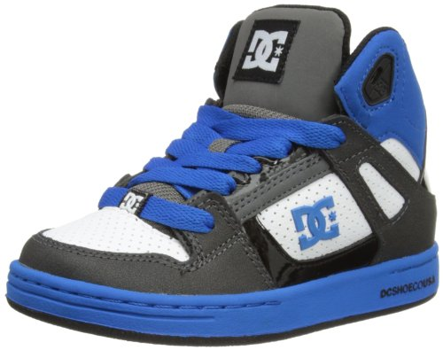 DC Shoes Boys Rebound B Shoe High-Top 302676B Blue Rad/Black 6 UK Child, 39 EU