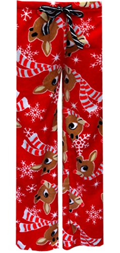 Rudolph The Red-Nosed Reindeer Plush Lounge Pants For Women (Large) front-487604